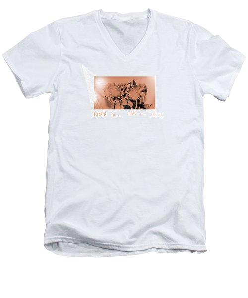 Endless Love. Love Is... Collection 13. Romantic Men's V-Neck T-Shirt by Oksana Semenchenko