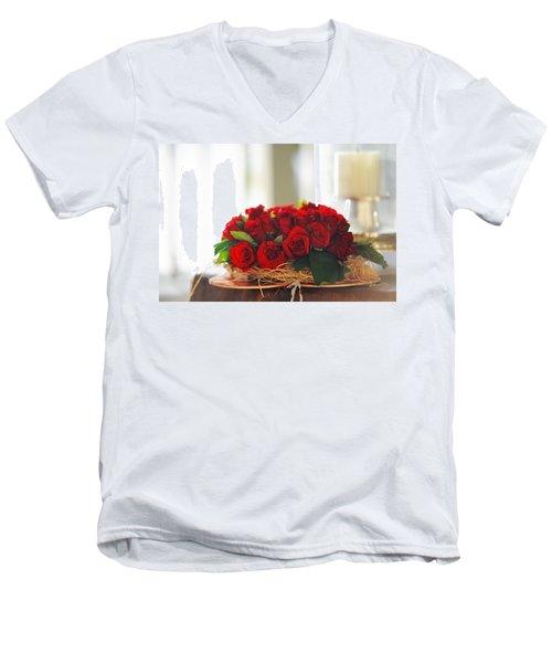 Love Message Men's V-Neck T-Shirt