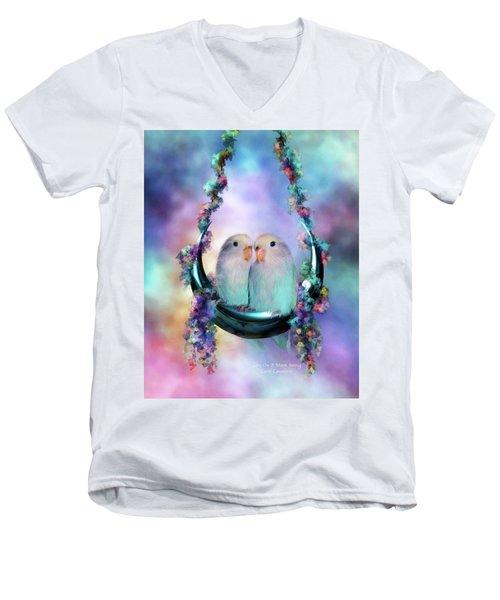 Love On A Moon Swing Men's V-Neck T-Shirt