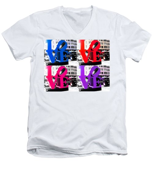 Love Pop Men's V-Neck T-Shirt by J Anthony