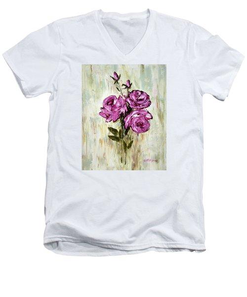 Lovely Roses Men's V-Neck T-Shirt