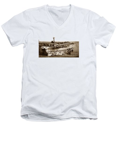 Lovers Point Beach And Old Wooden Pier Pacific Grove August 18 1900 Men's V-Neck T-Shirt