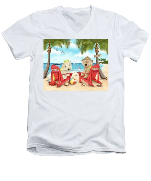 Loving Key West Men's V-Neck T-Shirt