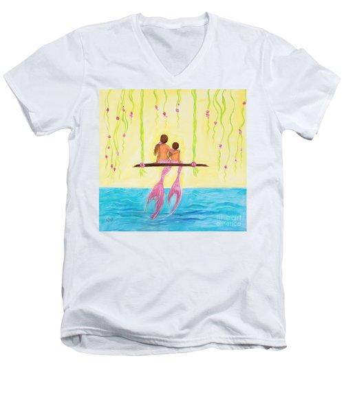 Loving Sunshine Men's V-Neck T-Shirt by Leslie Allen