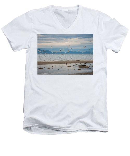Herring Season  Men's V-Neck T-Shirt by Roxy Hurtubise