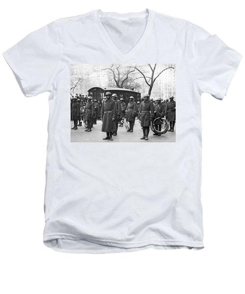 Lt. James Reese Europe's Band Men's V-Neck T-Shirt by Underwood Archives