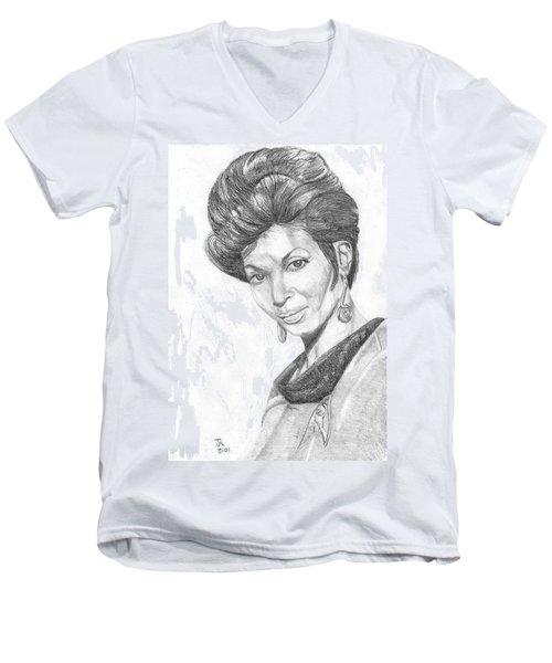 Lt. Uhura Men's V-Neck T-Shirt by Thomas J Herring
