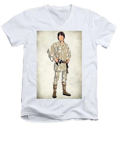 Luke Skywalker - Mark Hamill  Men's V-Neck T-Shirt