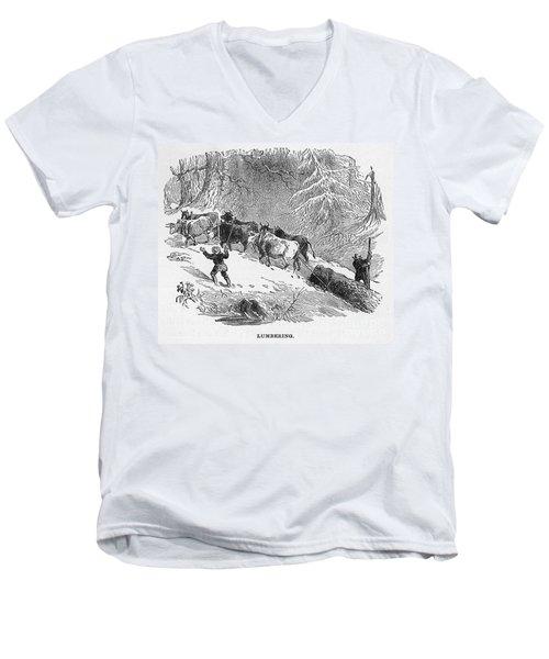 Lumbering - 1878 Men's V-Neck T-Shirt