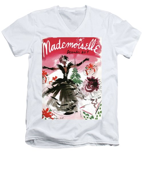 Mademoiselle Cover Featuring A Doll Surrounded Men's V-Neck T-Shirt
