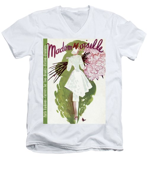 Mademoiselle Cover Featuring A Woman Carrying Men's V-Neck T-Shirt