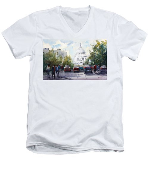 Madison - Capitol Men's V-Neck T-Shirt