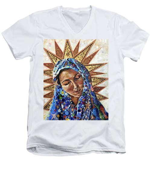 Madonna Of The Dispossessed Men's V-Neck T-Shirt