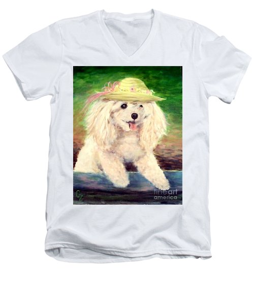 Maggie   Straw Hat Men's V-Neck T-Shirt