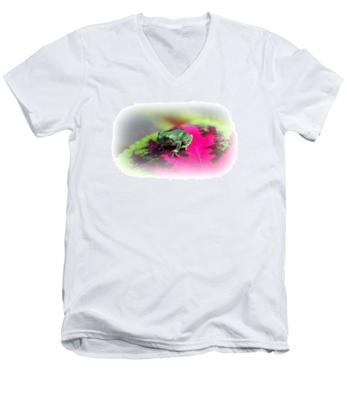 Magic Carpet Coleus Leaf Men's V-Neck T-Shirt