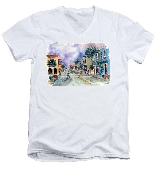 Main Street Half Moon Bay Men's V-Neck T-Shirt