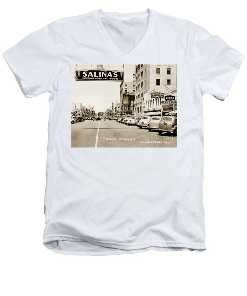 Main Street Salinas California 1941 Men's V-Neck T-Shirt
