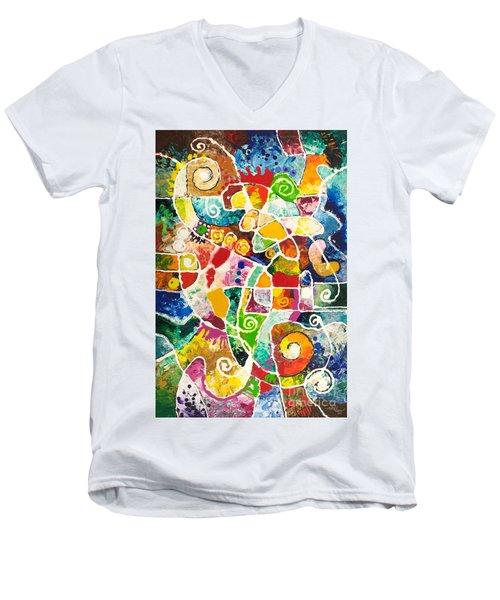 Maize Men's V-Neck T-Shirt by Sally Trace