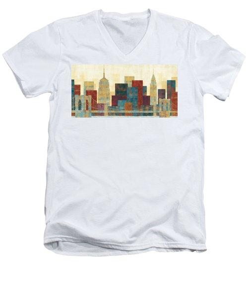Majestic City Men's V-Neck T-Shirt
