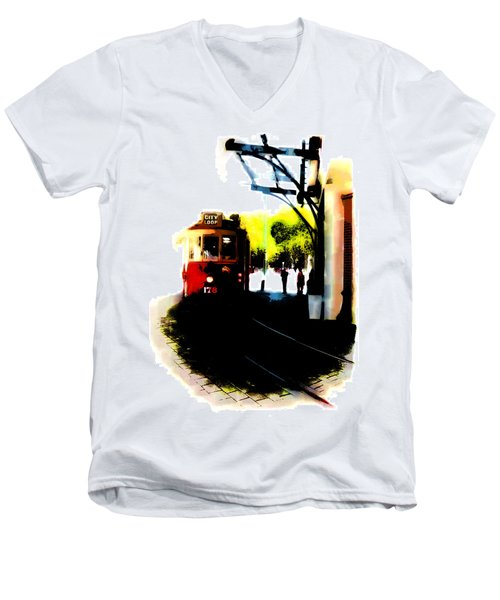 Make Way For The Tram  Men's V-Neck T-Shirt