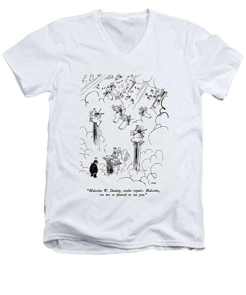 Malcolm W. Dunlap Men's V-Neck T-Shirt