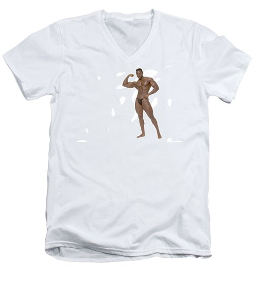 Male Bodybuilder Men's V-Neck T-Shirt