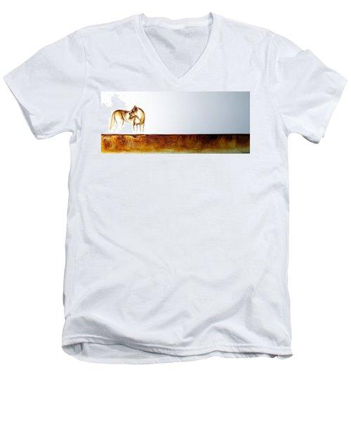 Lioness - Original Artwork Men's V-Neck T-Shirt