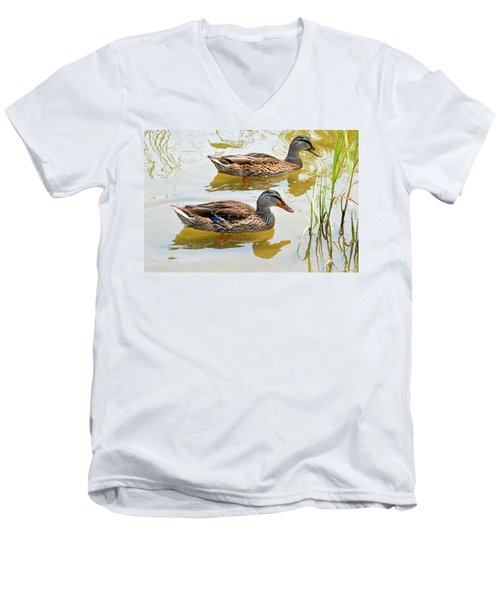 Mallards Men's V-Neck T-Shirt