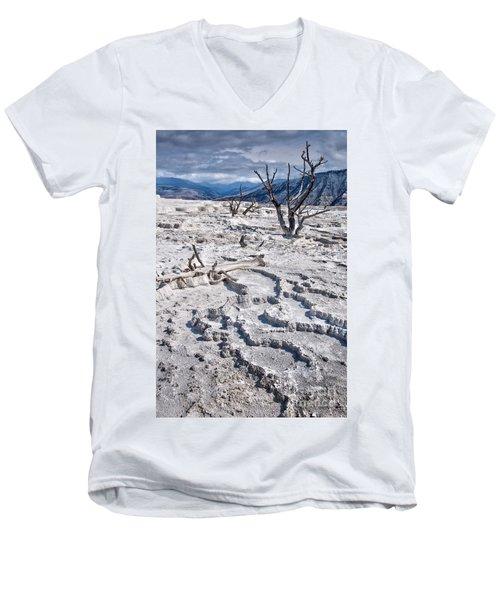 Mammoth Terraces Vertical Men's V-Neck T-Shirt