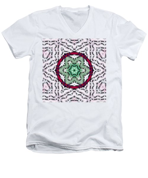 Men's V-Neck T-Shirt featuring the photograph Mandala 7 by Terry Reynoldson