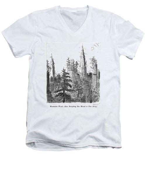 Manhattan Woods Men's V-Neck T-Shirt
