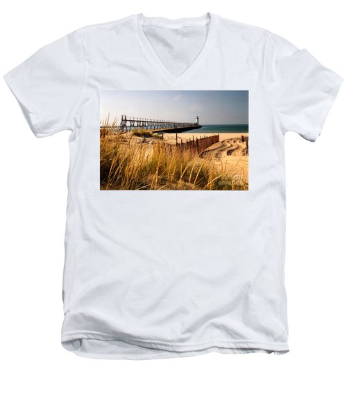 Manistee Lighthouse Men's V-Neck T-Shirt