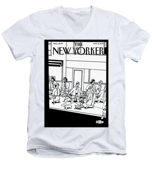 Man's Best Friend Men's V-Neck T-Shirt