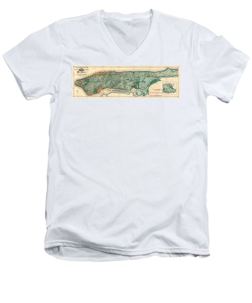 Map Of Manhattan Men's V-Neck T-Shirt