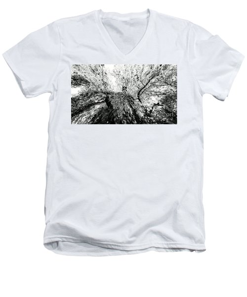 Maple Tree Inkblot Men's V-Neck T-Shirt by CML Brown
