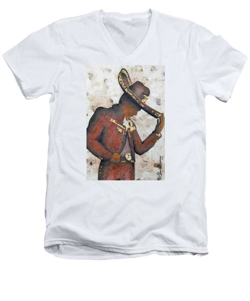 Mariachi  II Men's V-Neck T-Shirt by J- J- Espinoza