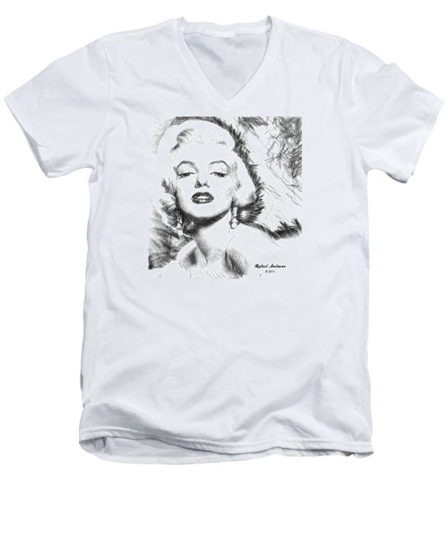 Marilyn Monroe - The One And Only  Men's V-Neck T-Shirt