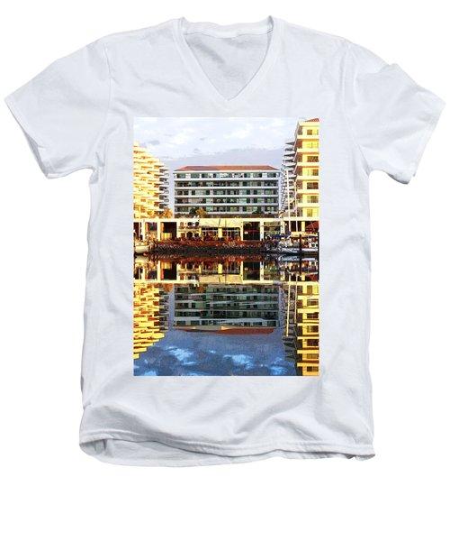 Marina Mazatlan Mirror Men's V-Neck T-Shirt