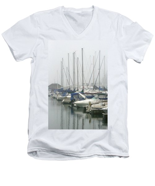 Marina Reflections Men's V-Neck T-Shirt by Kay Novy