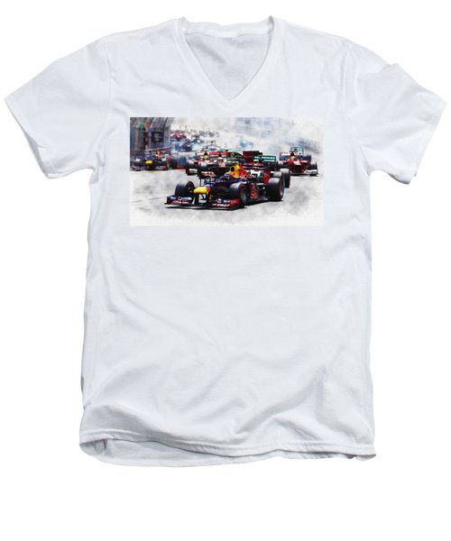 Mark Webber Men's V-Neck T-Shirt