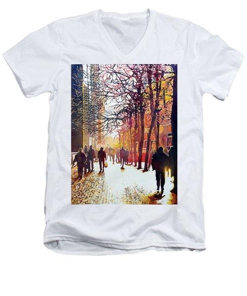 Market Street Men's V-Neck T-Shirt