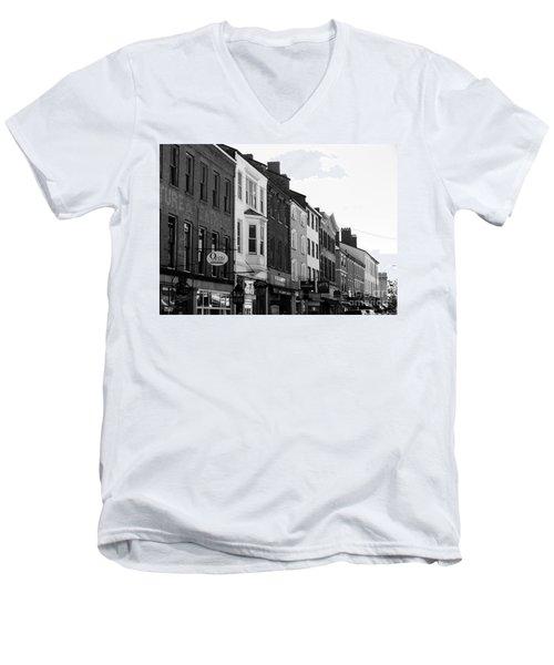 Market Street Men's V-Neck T-Shirt by Kevin Fortier