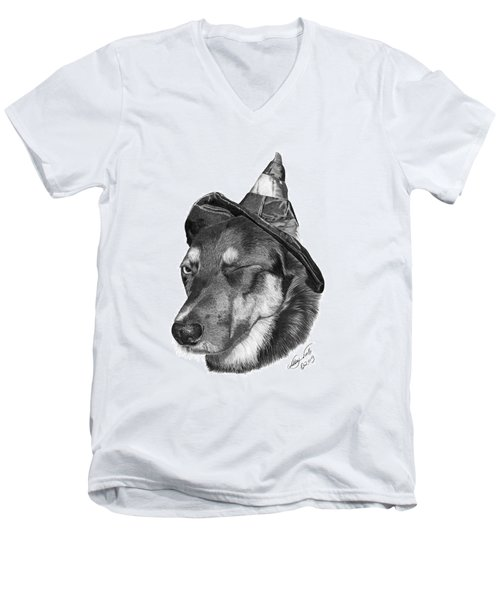 Marlee In Witch's Hat -021 Men's V-Neck T-Shirt