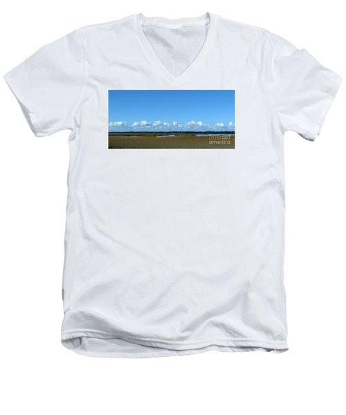 Marsh In Panacea Florida Men's V-Neck T-Shirt