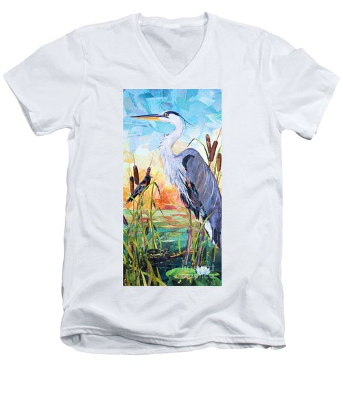 Marshland Moring Men's V-Neck T-Shirt
