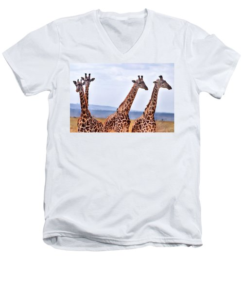 Masai Giraffe Men's V-Neck T-Shirt