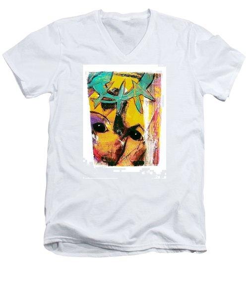 Mask Men's V-Neck T-Shirt