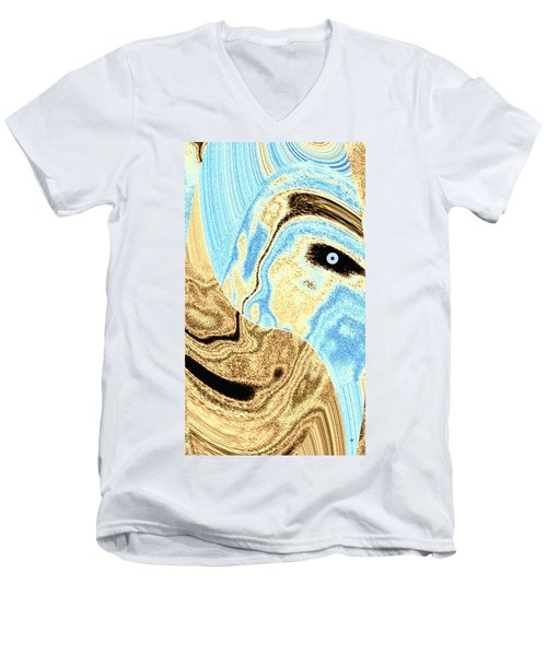 Masked- Man Abstract Men's V-Neck T-Shirt