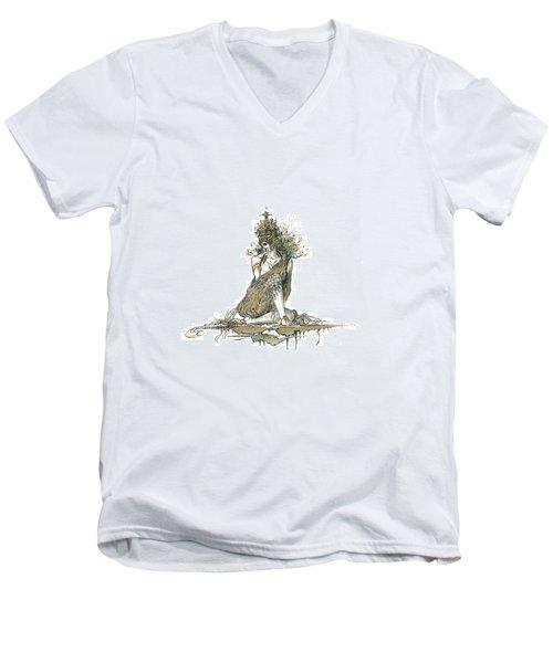 Wanita Men's V-Neck T-Shirt by Julio Lopez