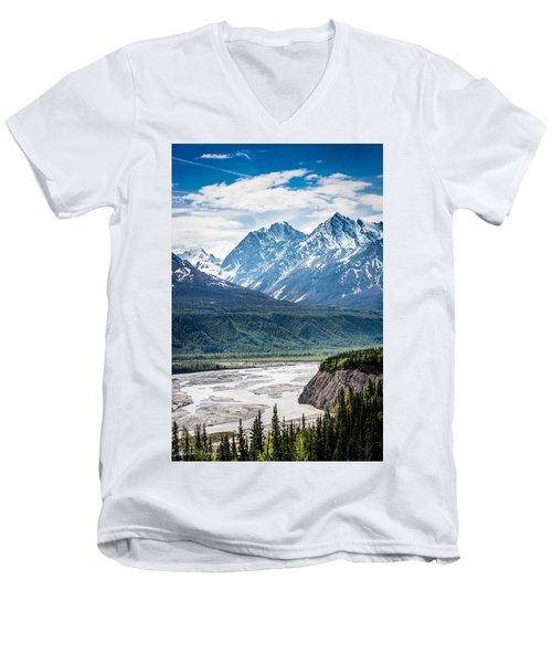Matanuska River  Men's V-Neck T-Shirt by Andrew Matwijec
